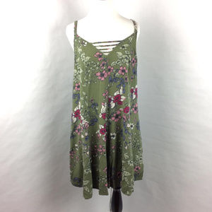 Torrid Olive Green Floral Summer Dress Size 0